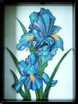 Quilled/Filigree  Iris'