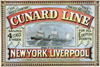 Cunard Line New York-Liverpool 1875