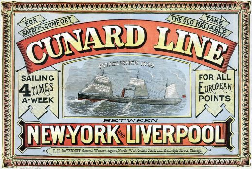 Cunard Line New York-Liverpool 1875
