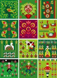 Folk Art 12 Days of Christmas