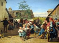 "Ferdinand Georg Waldmüller, ""Return from the Church Fair"", 1859"