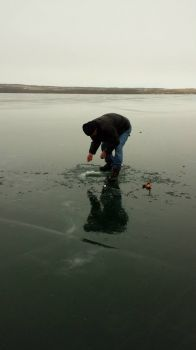 Rainy day on the ice!