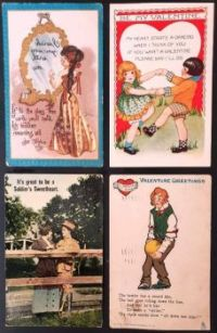 Antique Valentines Postcards 3 - Over 100 years old