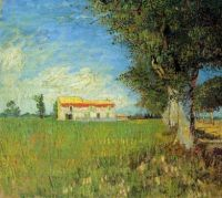 Farmhouse in a Wheat Field - Statek v pšeničném poli - 1888
