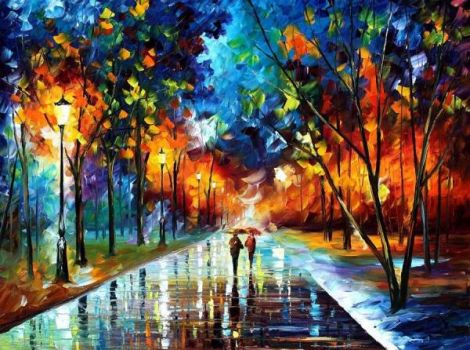 Only a palette knife was used to paint this...