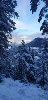 Aussicht mit Schnee