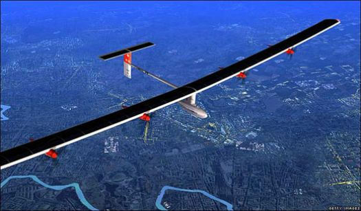 Solar Pl;ane - check out video at http://www.solarimpulse.com/