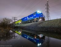 NS Conrail heritage locomotive Bellevue, Ohio
