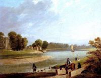 """The Trent at Wilford""-c 1840-Thomas Barber"