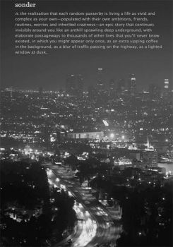 Foreign Words with no English Equivalent #12 - Sonder