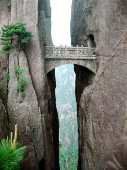 The Bridge of Immortals! Huangshan China