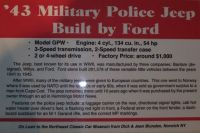 1943 Ford Military Police Jeep  01