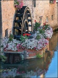 Watermill reflections, Bayeux, France