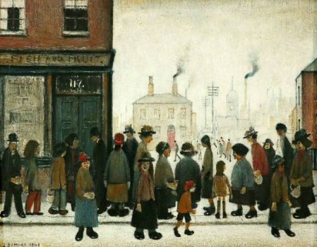 l s lowry s painting waiting for