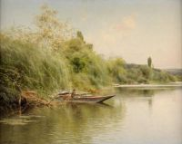 """Emilio Sánchez Perrier, """"Fisher and Son in a Boat"""", 1907"""