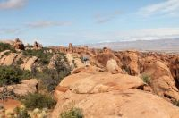 A spectacular hiking trail in Arches National Park