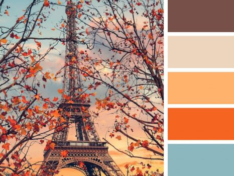 The Eiffel Tower in Fall