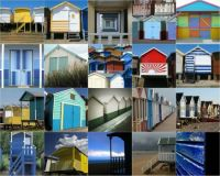 beach hut montage my monkeymagic1975 on flickr