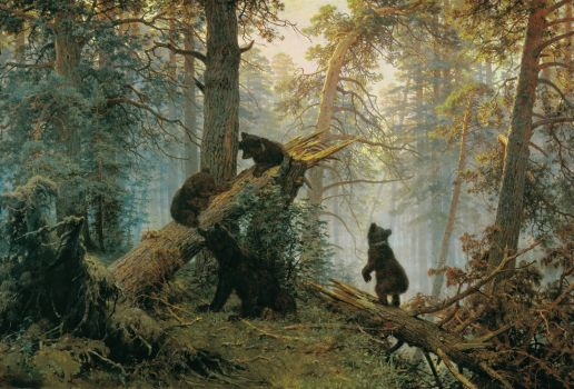 Morning in a Pine Forest by Ivan Shishkin, 1889