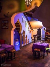 Chefchaouen, Morocco; magic lamp restaurant