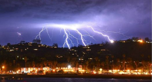 California Thunderstorm on 6th March