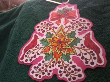 Handmade Colored Tree Ornament