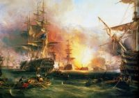 The-Bombardment-of-Algiers-27-August-1816-by-George-Chambers-Senior