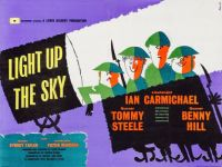 LIGHT UP THE SKY - 1960 MOVIE POSTER  IAN CARMICHAEL, TOMMY STEELE. BENNY HILL