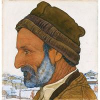 Ernest Biéler (Swiss, 1863–1948), Man in Fur Cap