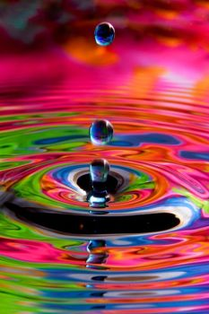 coloured waterdrops
