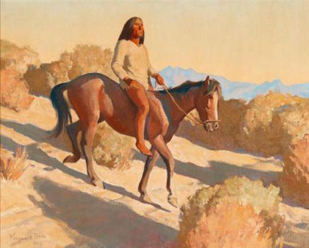Maynard Dixon (American, 1875–1946), Pima Indian, Arizona (1940)