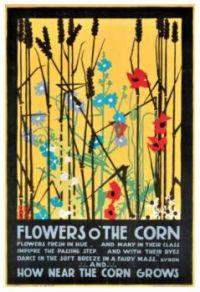 Edward McKnight Kauffer (1890-1954) - Flowers O'The Corn / Poem by Lord Byron