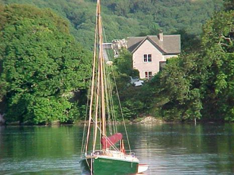 Evening light on Fal River, Cornwall