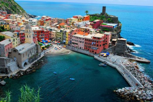 The Cinque Terre is part of the coast in the Liguria Region of Italy.