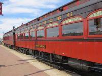 Beautiful train car on the Strasburg Railroad in Ronks, PA.