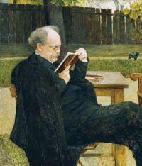 1905  Emanuel Baschny Lesender Mann