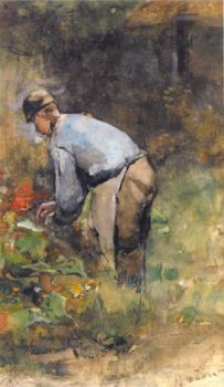 At Work in the Garden by Bernard de Hoog