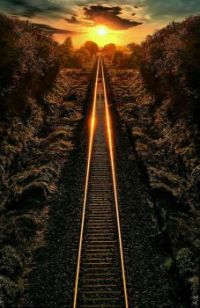 Railroad Into the Sunset