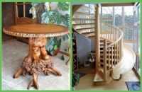 THEME ~ Flowers/Trees  ~~  Wood Table & Stairs/Slide