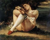 Courbet: Woman with Stockings