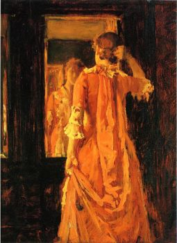 William Merritt Chase, Young Woman Before a Mirror