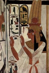 Wall Painting from the burial Chamber of Queen Nefertari