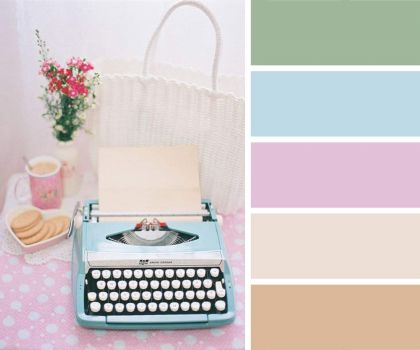 Pretty Pastel Typewriter