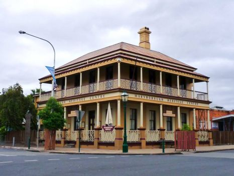 Heritage building in old port of Maryborough, Qld, Australia