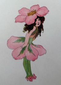 Wild Rose. Elizabeth Gordon. Flower Children. 1910