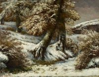 Gustave Courbet--Trees in the Snow, about 1865
