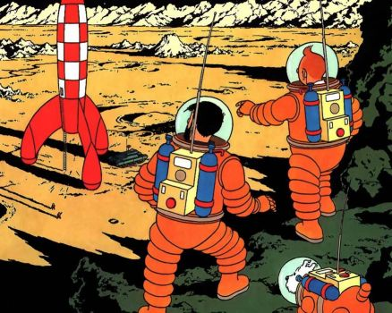 Tintin at the Moon 3