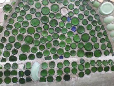 Watts Towers... 7-up bottle mosaic