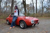 Toyota Sports 800 and Japanese woman