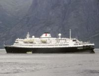 Cruise and Maritime Voyages (CMV) Astoria  off Flåm in June 2019
